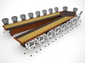 HUD Scissors Conference Table