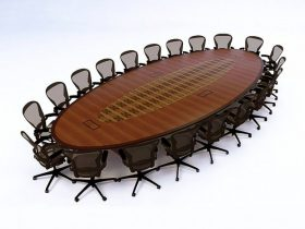 Healthquest Oval Conference Table
