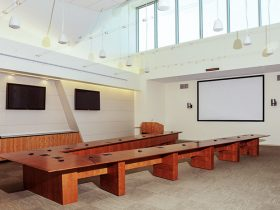 v shape conference table