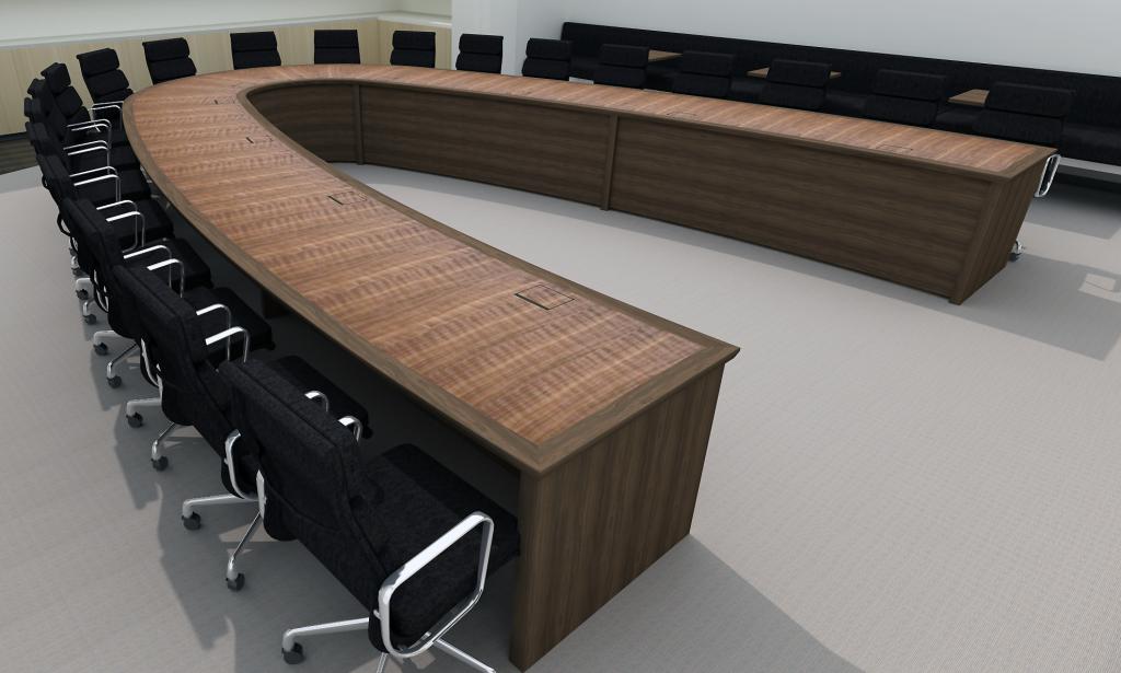 u-shape conference table