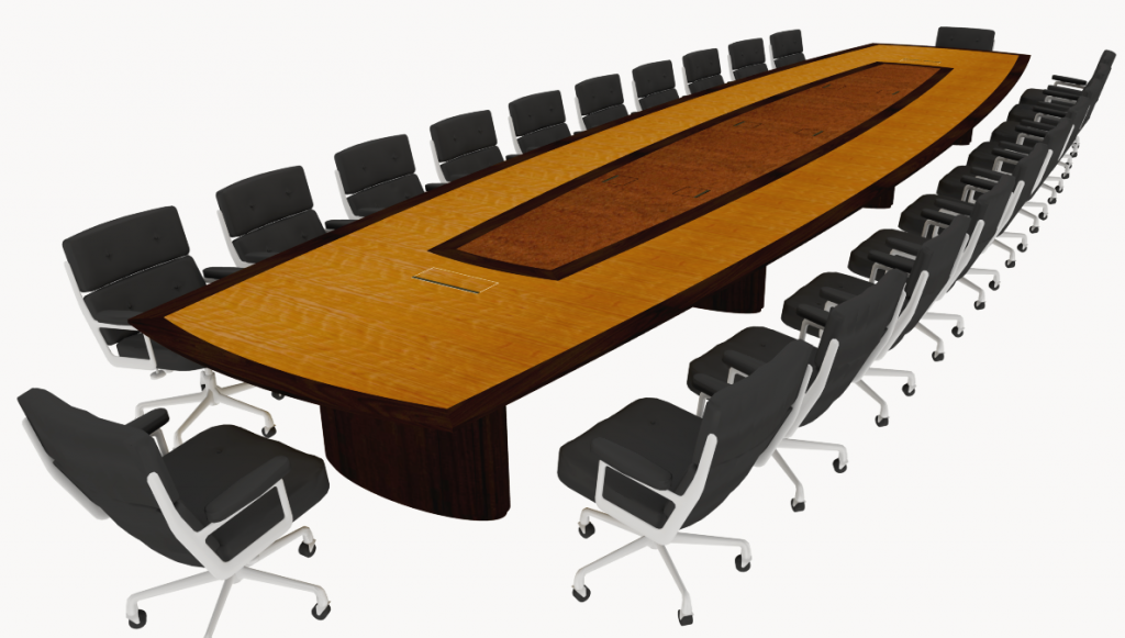 transitional conference table