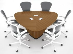 WK Triangular Conference Table