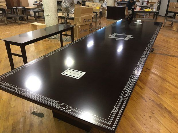 Credit Union Black Conference Table