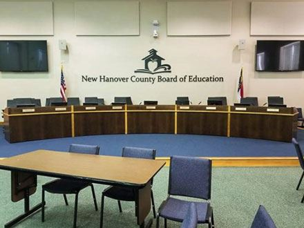 New Hanover County Schools Board Room Table