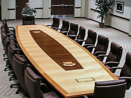 460 MSG/SVDL Boat Shaped Conference Table