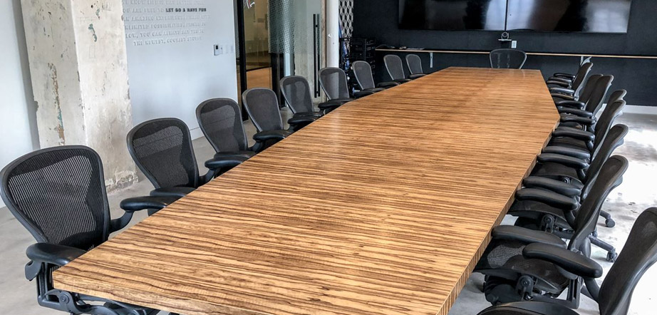 Custom Conference Table Size by Room Dimensions