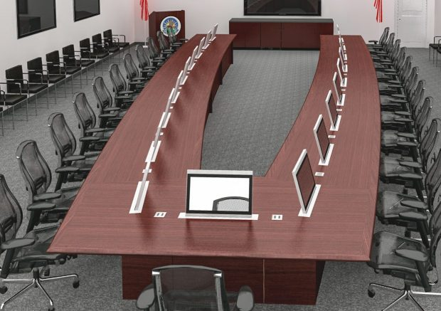 Conference Table with Power - Advanced Technology