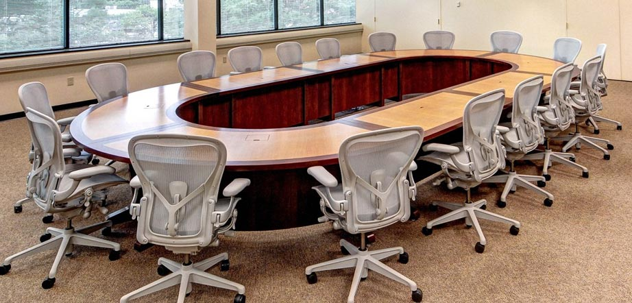 Racetrack Conference Table Seating