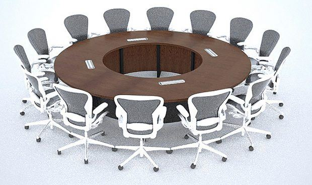 Round Conference Room Table