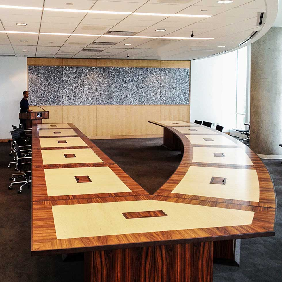 V Shaped Conference Tables Examples
