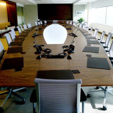 Walnut Conference Table - Wood Conference Tables