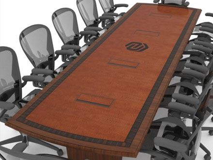 Nebraska Machinery Company Wood Conference Table