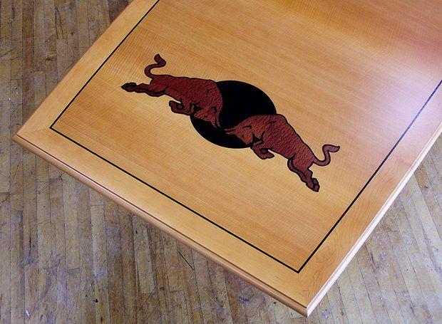 Red Bull Custom Conference Table Branding