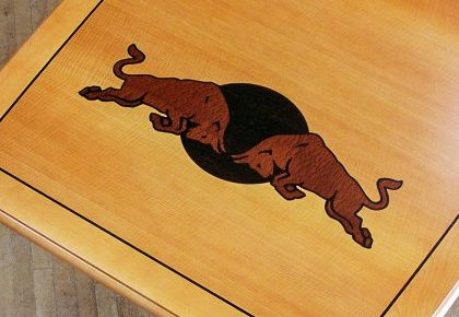 Inlaid Custom Conference Table Logo