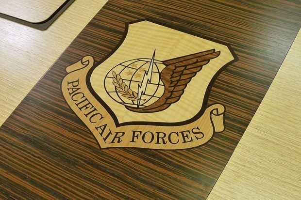 Pacific Air Forces HQ Military Conference Table Logo