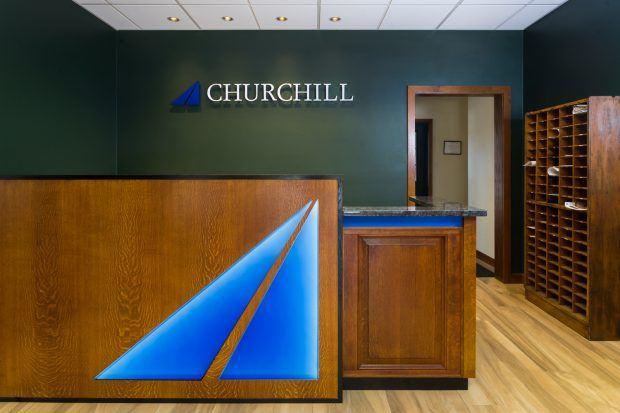 Reception Desk Custom Logo