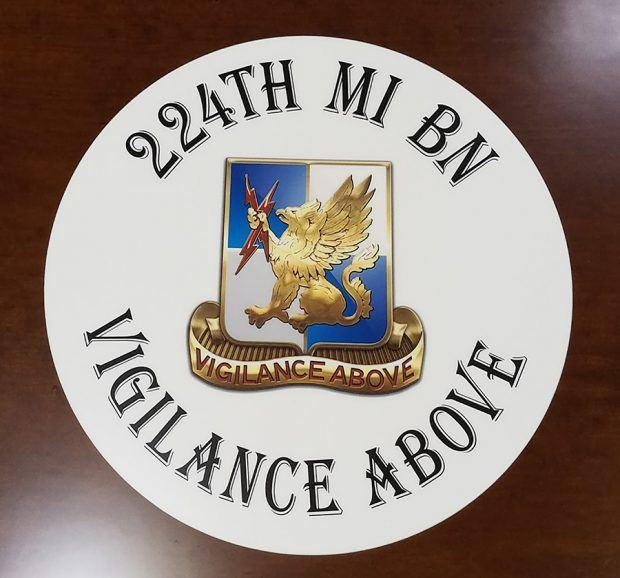 US Army Unit Conference Table Logo