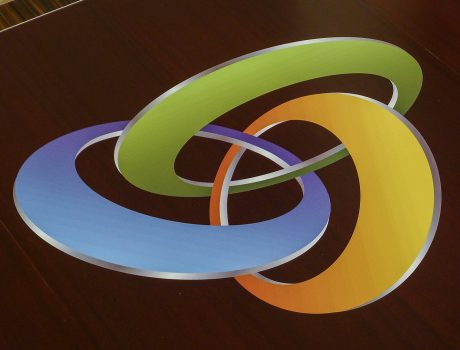 Vinyl Custom Conference Table Logo