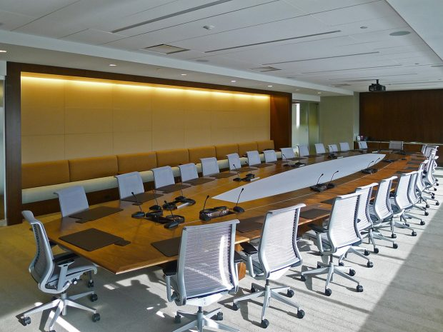 large teleconferencing table