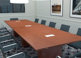 Central Hotel Harrisburg Laminate Conference Table with Power Ports