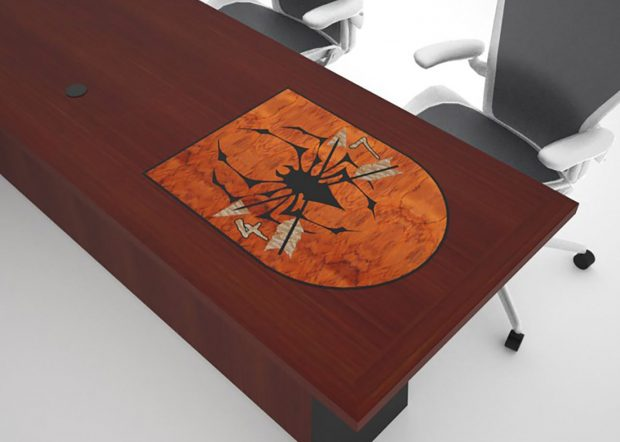 7th Special Forces Group Cherry Wood Conference Table Logo