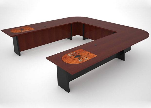 7th Special Forces Group U Shaped Boardroom Table