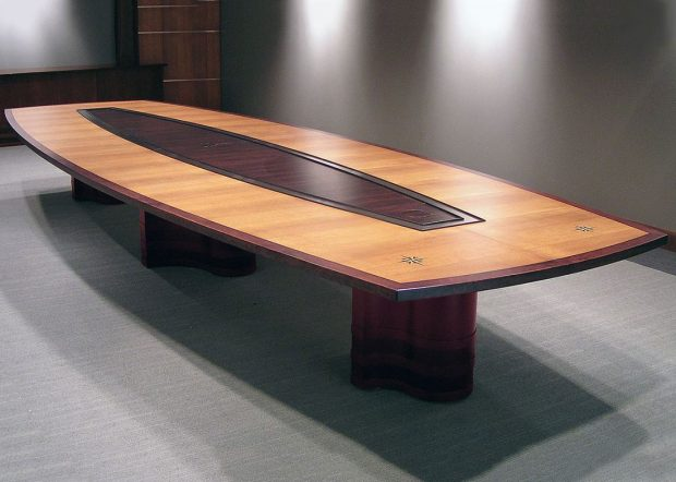 AC Lines Custom Conference Room Tables with Power