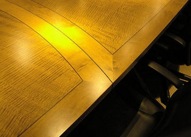 AFRT Custom Maple Conference Table with Power