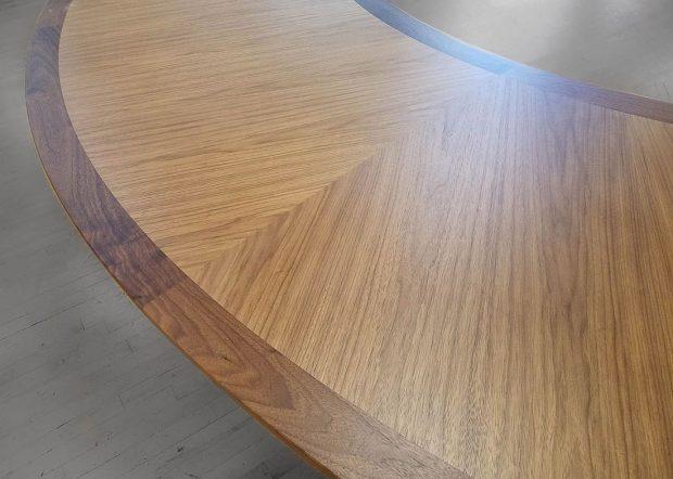AKA Designs U Shaped Walnut Meeting Table