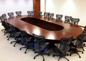MC12 Cherry Boardroom Table for Bank