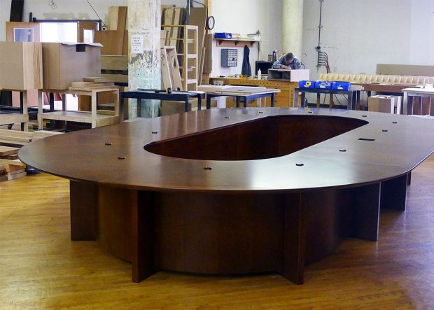 MC12 Oval Boardroom Table for Bank