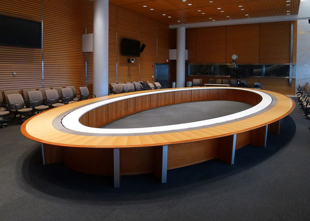 Bank Institution Executive Conference Room Table  Paul Downs