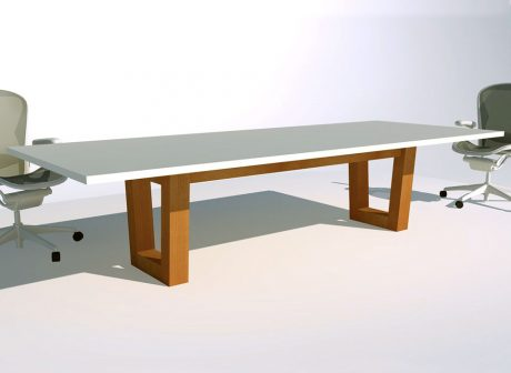 Open Tapered Box Conference Table Base