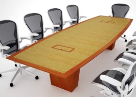 Belmont Premium Light Cherry Conference Table