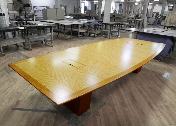Belmont Premium Light Cherry Wood Conference Table