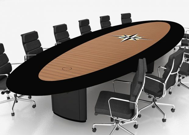 Christian Brothers Custom Boardroom Table with Logo