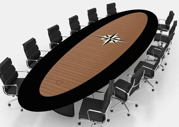 Christian Brothers Oval Executive Boardroom Table