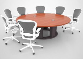 Coursera Custom Round Conference Table
