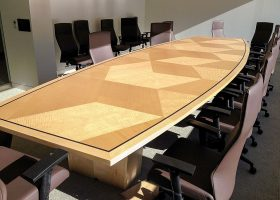 CubeSmart Branded Custom Boardroom Table