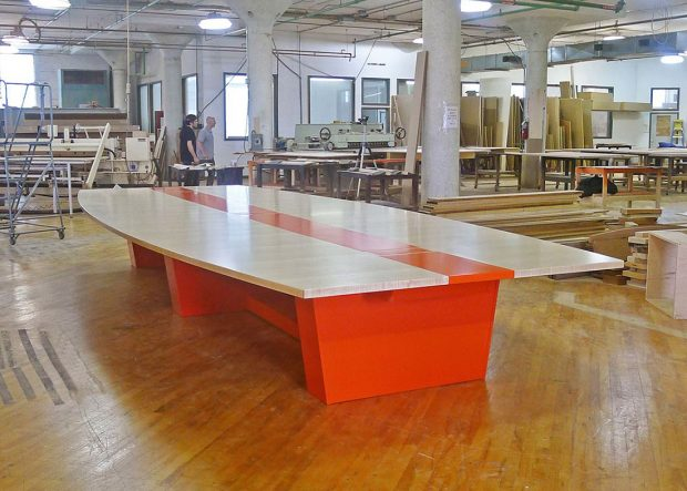 DEI Holdings Boat Shaped Conference Table