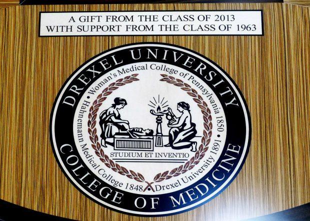 Drexel University Inlaid Logo U Shaped Conference Table