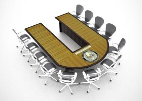 Drexel University U Shaped Conference Room Tables
