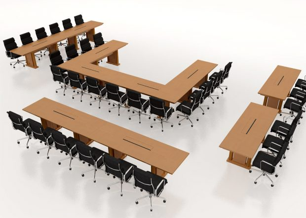 Eagles Reconfigurable Rectangular Meeting Table