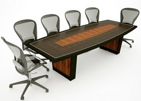 Empire Premium Boat Shaped Conference Table