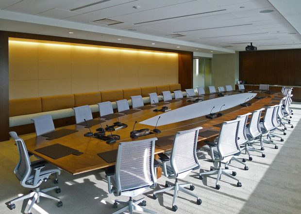 Large Conference Table with Power Ports