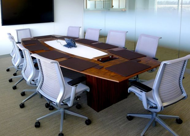Endo Health Walnut Meeting Table with Power
