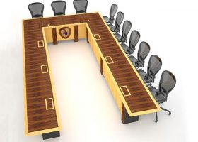 EPG Large U Shaped Conference Table