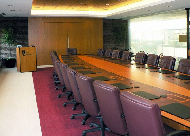 Erie Insurance Premium Custom Long Conference Table