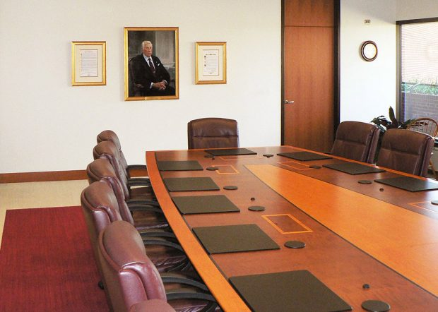 Erie Insurance Premium Video Conference Long Meeting Table