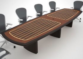Geier Chris Craft Style Boat Shaped Conference Table